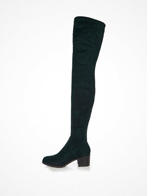 Boots & kängor - River Island Dark green over-the-knee boots