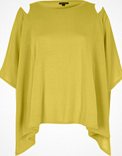 River Island Yellow cut out shoulder cape top