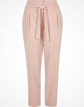 River Island Light pink tie waist trousers