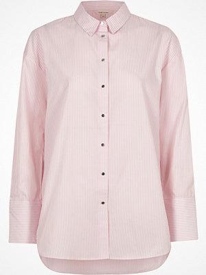 River Island Pink stripe print oversized shirt