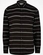 Skjortor - River Island Black stripe long sleeve shirt