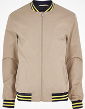Jackor - River Island Light brown bomber jacket