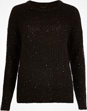 River Island Black knit sequin jumper