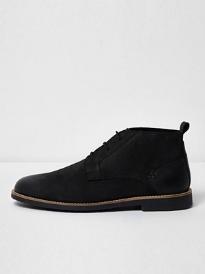 Boots & kängor - River Island Black leather desert boots