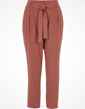 River Island Copper red tapered tie waist trousers