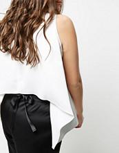 River Island Plus white tie back sleeveless vest