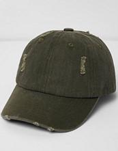 Mössor - River Island Khaki distressed cap