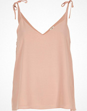River Island Petite pink bow shoulder cami top