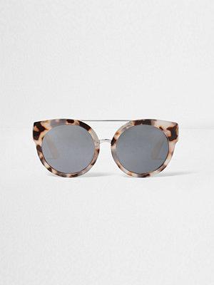 Solglasögon - River Island Grey camo cat eye sunglasses