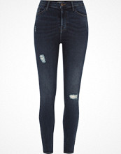 Jeans - River Island Dark blue Harper skinny high waisted jeans