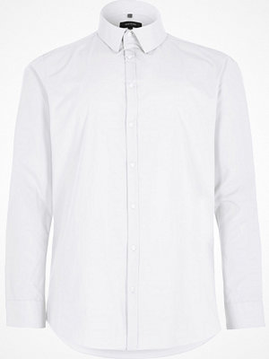 River Island Big and Tall White slim fit smart shirt