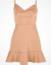 River Island Light pink frill hem cami mini dress