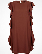 River Island Brown side frill swing dress
