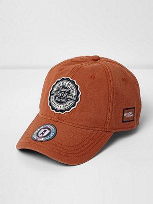 Mössor - River Island Orange American Freshman cap