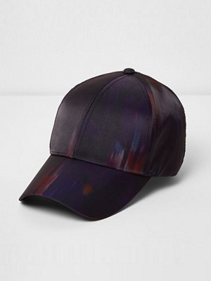 Mössor - River Island Purple abstract print cap