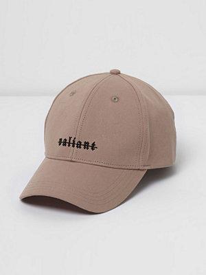 Mössor - River Island Pink 'Valiant' print cap