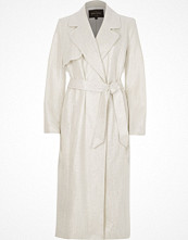 Kappor - River Island Silver metallic trench coat