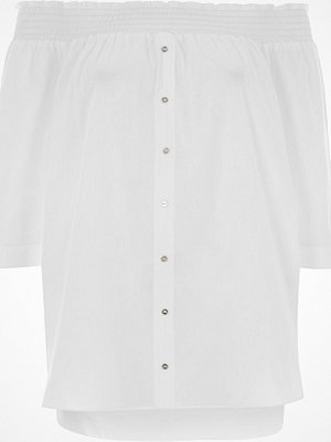 River Island River Island Womens White long sleeve bardot shirt