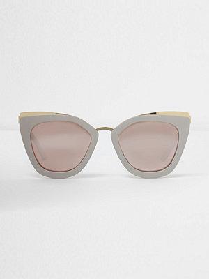 Solglasögon - River Island Grey oversized mirror lens sunglasses
