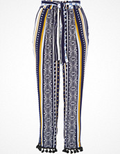 River Island Blue stripe pom pom hem tapered trousers