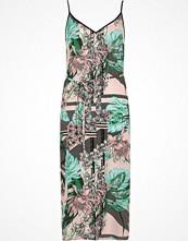 River Island Green floral print tie waist slip dress