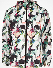 Jackor - River Island Blue abstract print hooded jacket