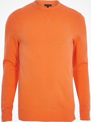 Tröjor & cardigans - River Island Orange long sleeve muscle fit sweatshirt