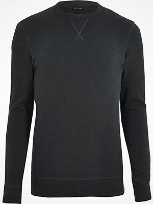 Tröjor & cardigans - River Island Black long sleeve muscle fit sweatshirt