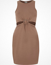 River Island Light brown ring detail cut out bodycon dress