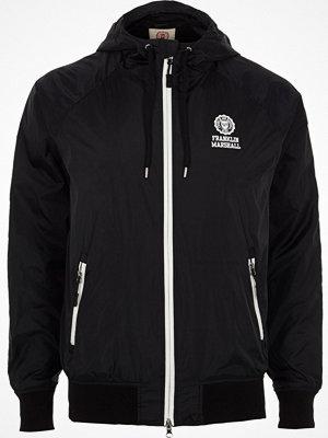 Jackor - River Island Black Franklin & Marshall zip front jacket