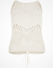 River Island Cream crochet open back tank top