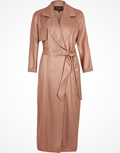 Kappor - River Island Bronze metallic belted trench coat