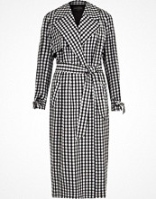 Kappor - River Island Black gingham check belted trench coat