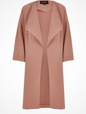 River Island Light pink fallaway duster jacket