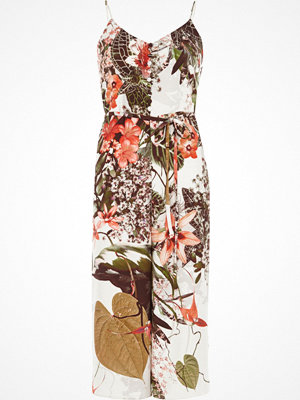 Jumpsuits & playsuits - River Island Petite cream floral cami culotte jumpsuit