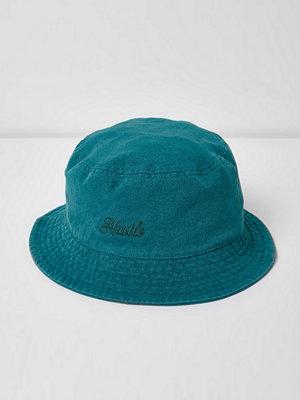 Mössor - River Island Blue 'Hustle' bucket hat
