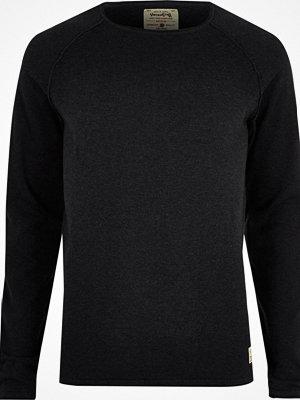 Tröjor & cardigans - River Island Navy Jack & Jones Vintage knit jumper