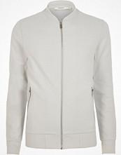 Jackor - River Island White Jack & Jones Premium bomber jacket