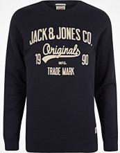 Tröjor & cardigans - River Island Navy Jack & Jones print sweatshirt