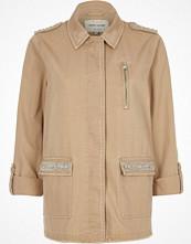 River Island Light khaki brown jewelled army jacket