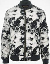 Jackor - River Island Grey tie dye bomber jacket