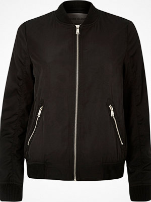 River Island Black bomber jacket