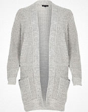River Island Grey oversized chunky knit cardigan