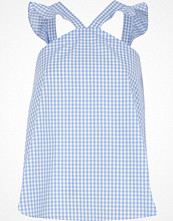 Linnen - River Island Blue gingham frill sleevless top