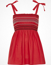 Linnen - River Island Red shirred tie shoulder cami top