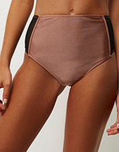 River Island Brown mesh high rise bikini bottoms