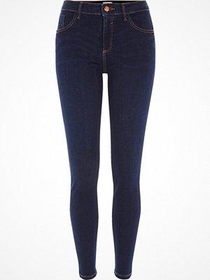 Jeans - River Island Dark Blue Amelie super skinny jeans