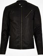 Jackor - River Island Black Jack & Jones racer jacket