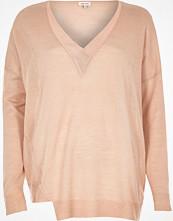 River Island Blush pink V-neck jumper