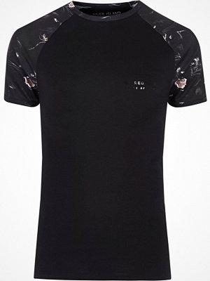 T-shirts - River Island Big and Tall black panther raglan T-shirt